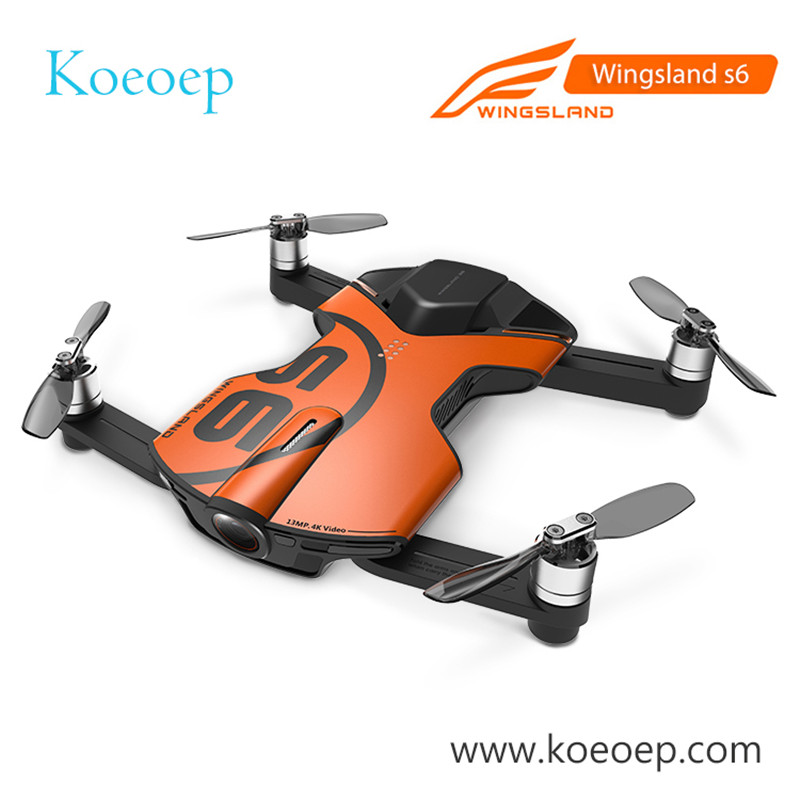 D'origine Wingsland S6 Poche Selfie Drone Caméra Pliable Quadcopter WiFi FPV Avec 4 k HD Caméra En Stock