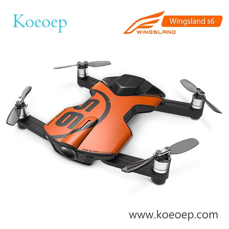 Originale Wingsland S6 Tasca Selfie Drone Fotocamera Pieghevole Quadcopter WiFi FPV Con 4 k HD Fotocamera In Magazzino
