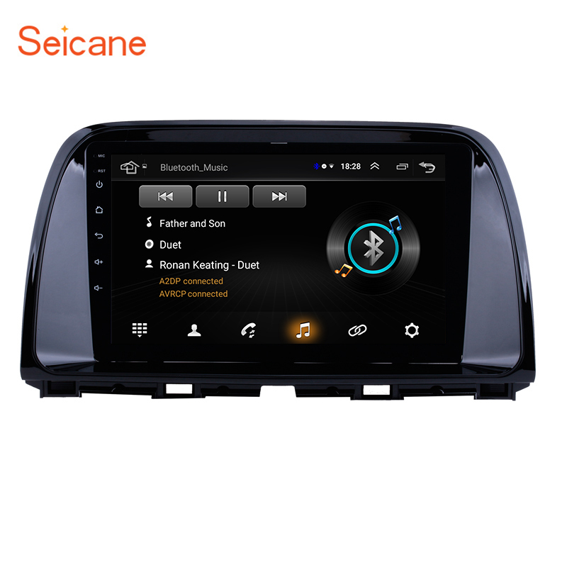 Seicane 9 inch Car Unit Player for 2012-2016 <font><b>Mazda</b></font> CX-5 <font><b>cx5</b></font> cx 5 Android 8.1 GPS <font><b>Navigation</b></font> Support TPMS DVR Rear camera DAB+ 3G image