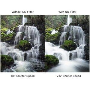 Image 3 - K & f conceito nd1000 quadrado filtro de lente 100mm x 100mm com suporte de metal + 8 pçs adaptador anéis para canon nikon sony lente da câmera