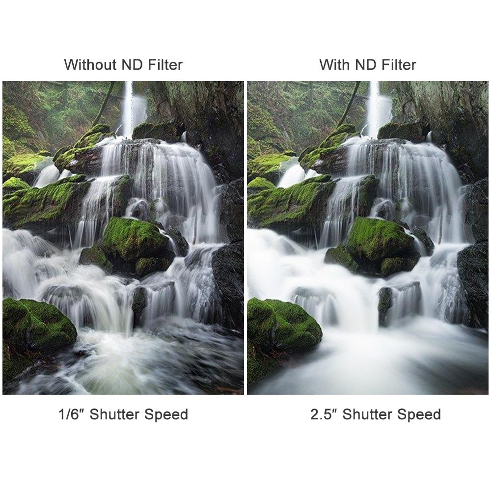 Ajustável de Vidro nd Fader Nikon Dslr Zomei