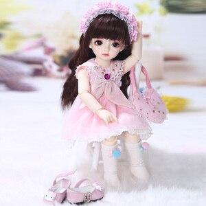 Image 5 - Имбирные куклы Miadoll BJD SD, модель тела 1/6, полный комплект с волосами, одежда, обувь, аксессуары, шарнирная кукла