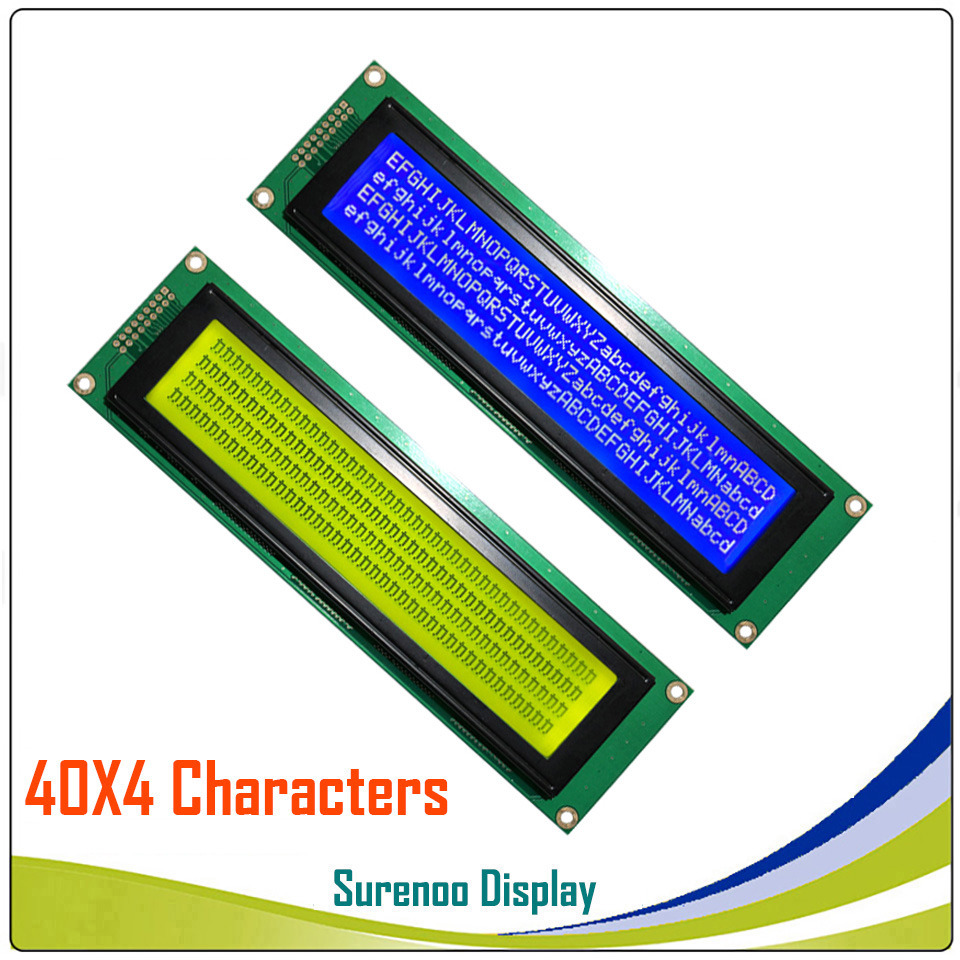 404 40X4 4004 Character LCD Module Display Screen LCM Yellow Green Blue  With LED Backlight Build-in