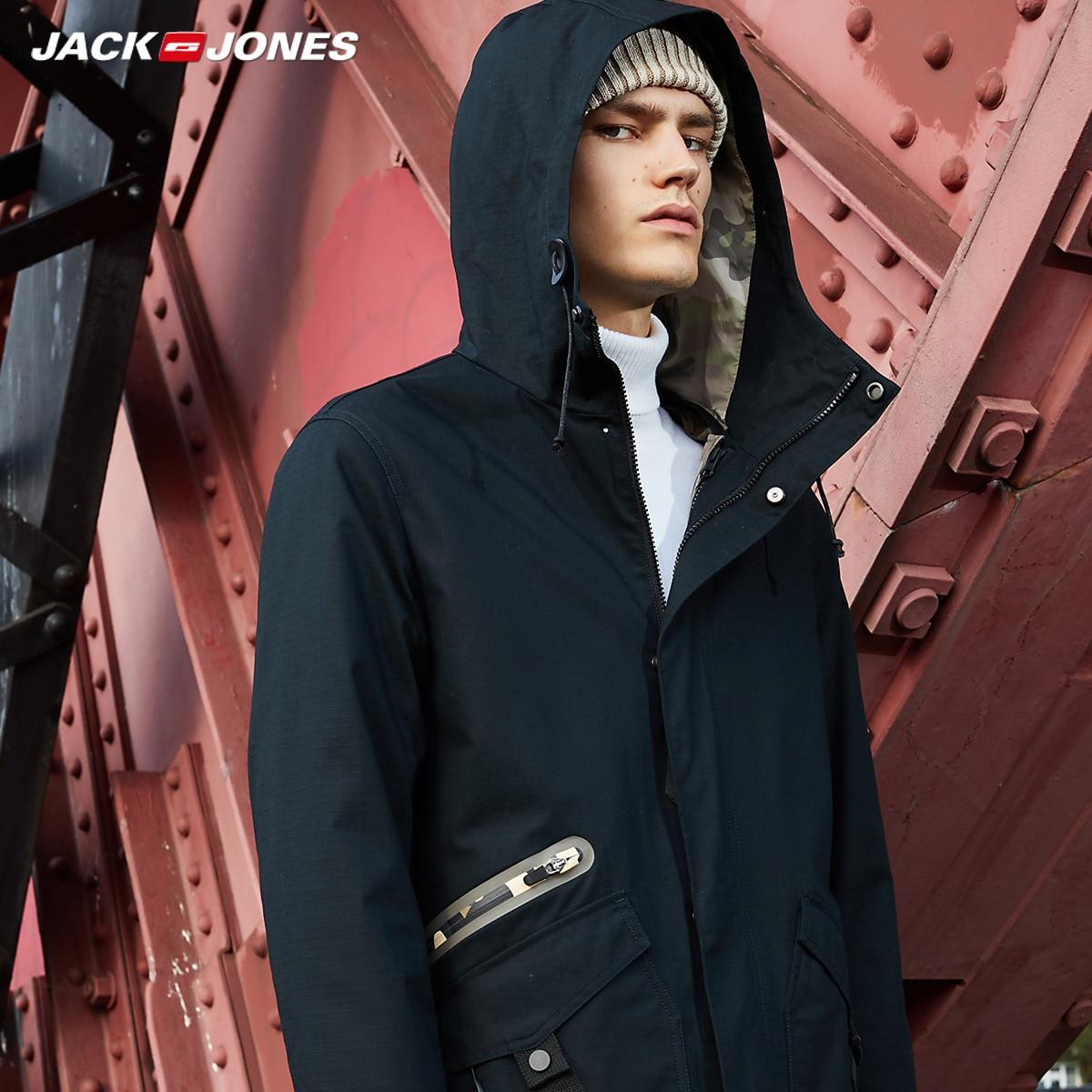 JackJones Men's Spring Camouflage Coat   Parkas   Jacket Men's Trench Coat College Luxury Pilot Menswear|218309518