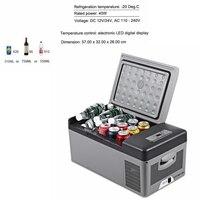 15L автомобильный холодильник 40 Вт 12 В в В/24 В автомобильный домашний холодильник двойного назначения светодио дный LED Автомобильный морозил