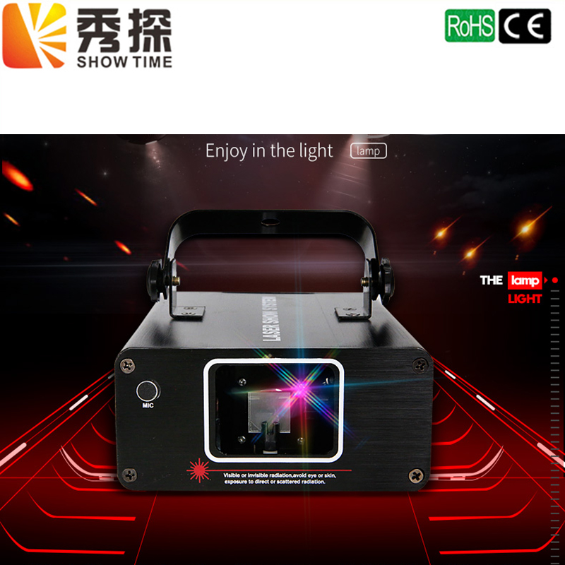 Free Shipping DJ Laser stage light Full Color 96 RGB Patterns Projector Stage Effect Lighting for Disco Xmas Party 1 head laser