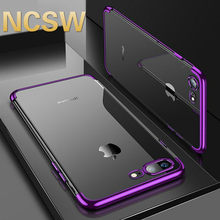 Silicio claro suave para iPhone X XS X MAX XR iPhone 5 5S 6S 6 6Plus 6SPlus carcasa para iPhone 7 8 7Plus 8Plus(China)