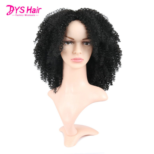 0bf43a547 Deyngs Short Blonde Synthetic Women's Wigs Pixie Cut Afro Kinky Curly Hair  Wigs Natural African American Hairstyle 180% Density