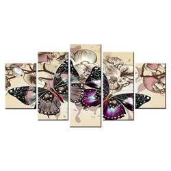 Алмазная бабочка мульти-картина комбинация полная квадратная вышивка крестиком картина искусство подарок 5 шт./компл