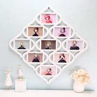 9 Images Plastic White Photo Frames Chinese Knots Picture Display Birthday Wedding Gift Collage Home Room Wall Decor 55X55cm