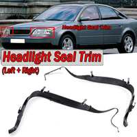 High Quality 2x Car Front Headlight Seal Cover Trim Ring For Audi A6 C5 2002 2005 Facelift 4B0941191A 4B0941192A