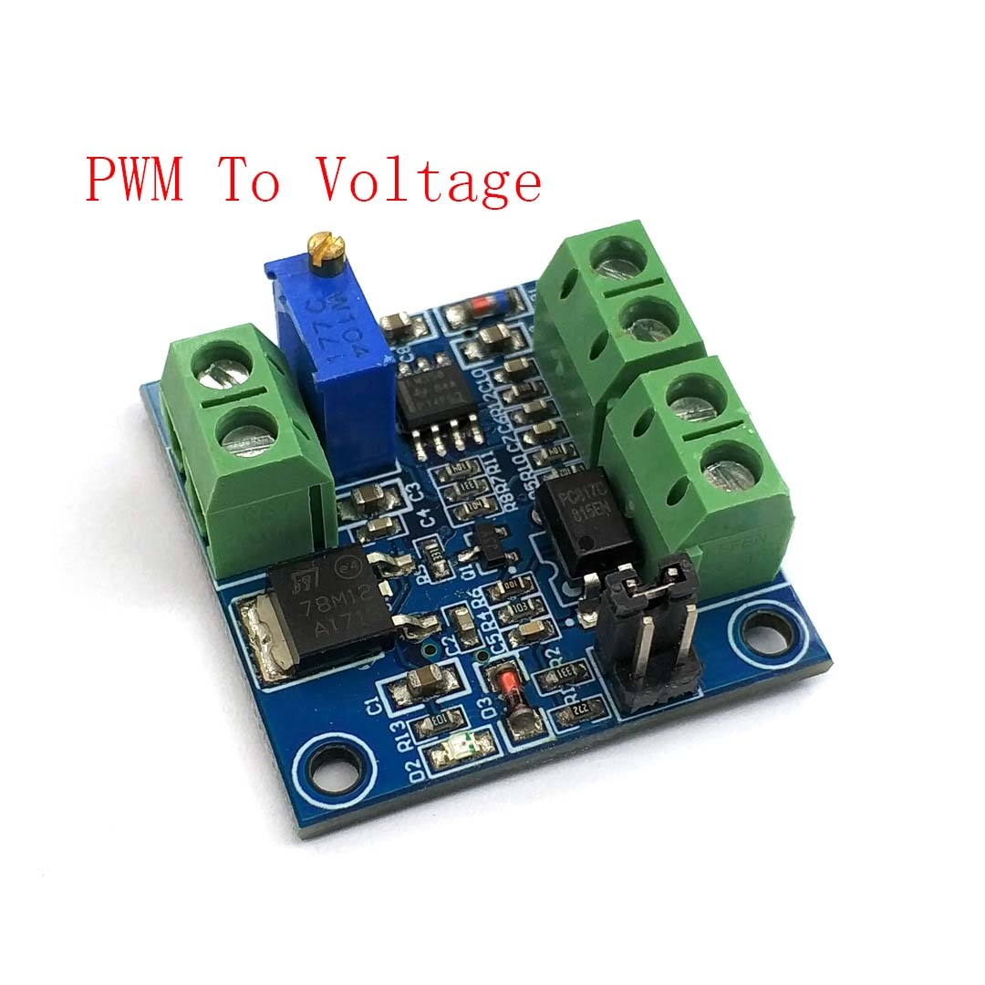 PWM to Voltage Converter Module 0/%-100/% to 0-10V Digital to Analog Signal
