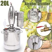 20L Home DIY Distiller Alambic Alcohol Wine Making Device Kit Stainless Wine Maker Brew Wine Making Tools Kit Alcohol Distiller