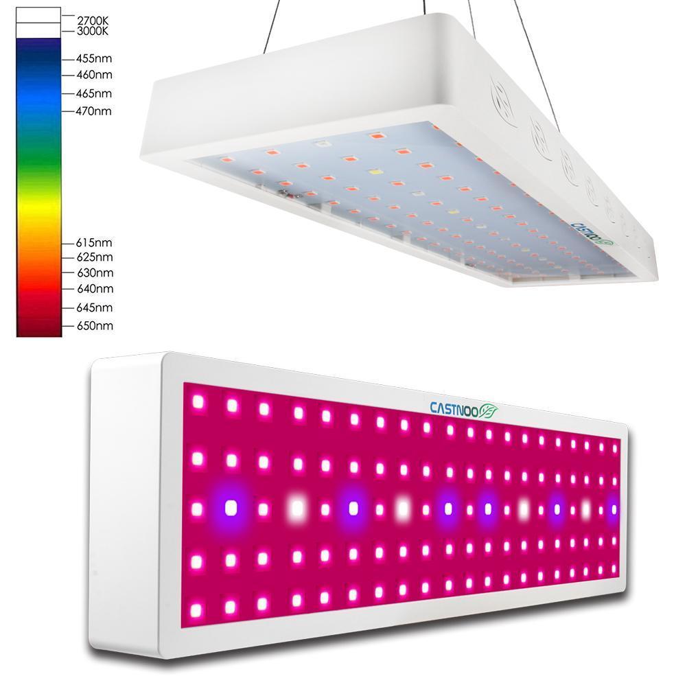 CASTNOO 500 Вт полный спектр LED Grow Light панель лампа для гидропоники растений комнатных растений цветы выращивание саженцев