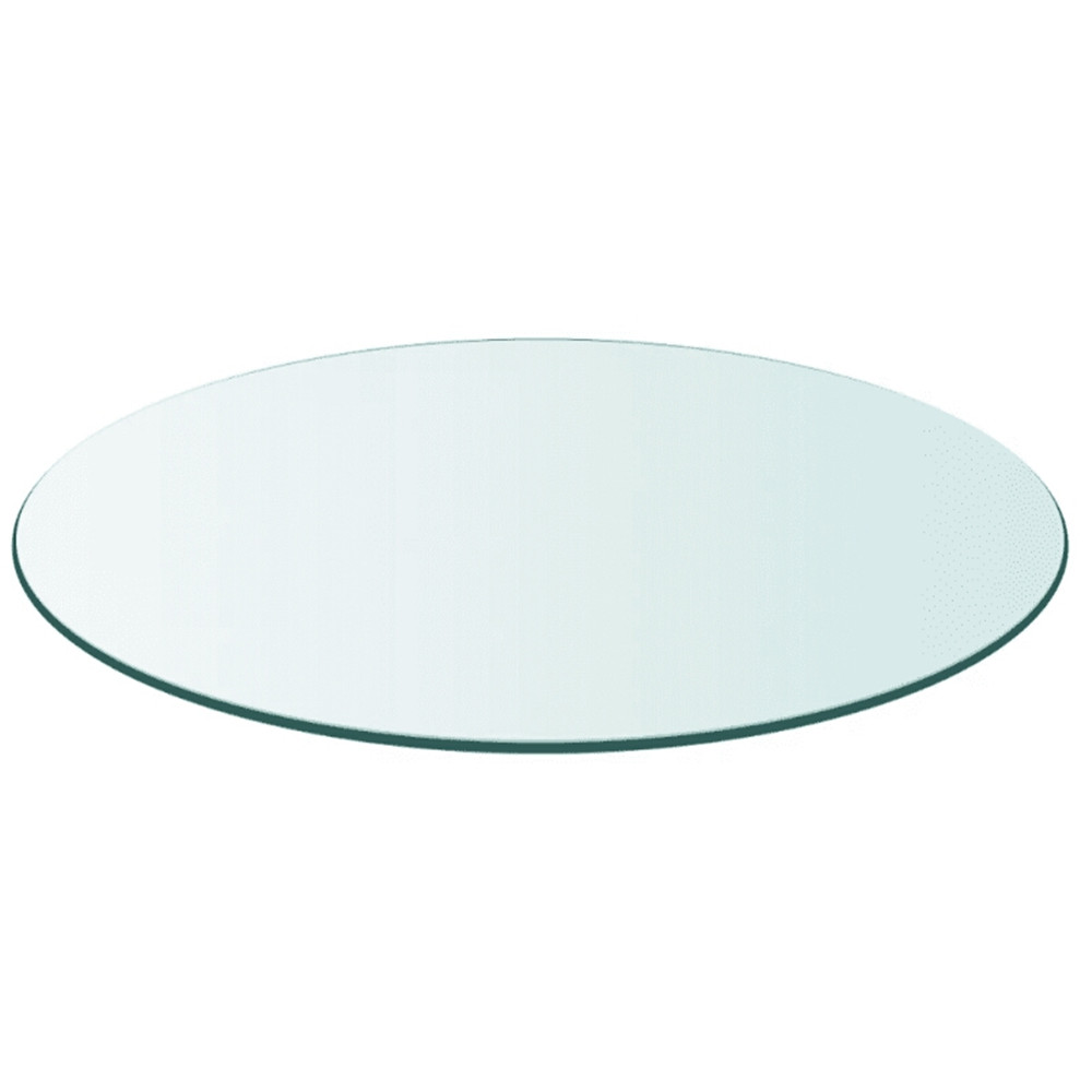 VidaXL Durable Table Top Transparent Tempered Glass Round 700 Mm/ 800 Mm Cafe Table Top Dining / Coffee / Garden Table Top