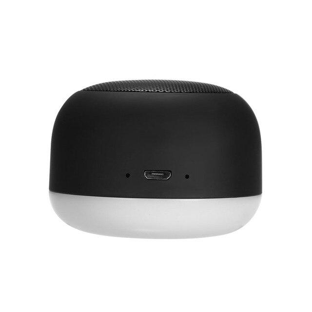 Portátil inalámbrico de luz de la noche de BT Mini Altavoz manos libres altavoces con amplia compatibilidad altavoz Control de voz negro
