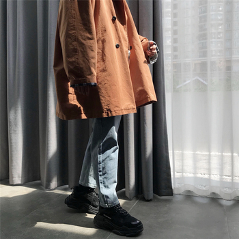 2019Winter Autumn New Men's Trend Brand Slim Casual Warm Clothes Korean Fashion Loose Thick Long Trench Coat Pocket Jacket Parks