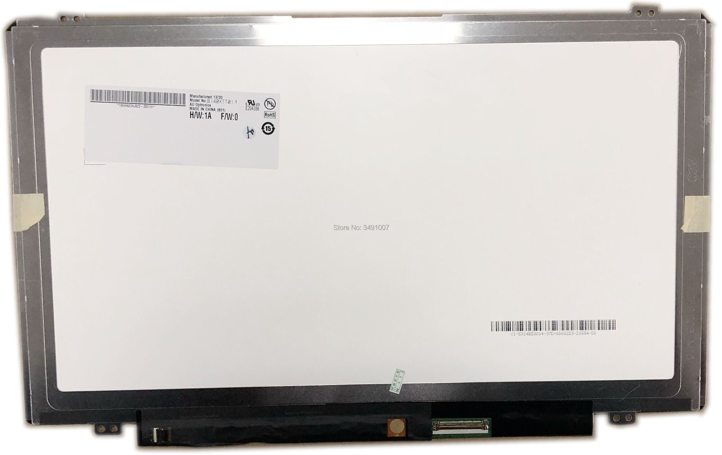 Tela do Laptop B140xtt01.1 com Toque Lalawin Digitador Display 40 Pinos Lcd Led
