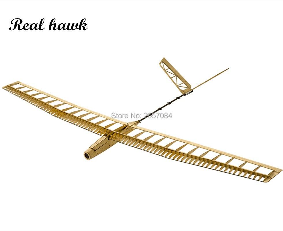 Avions en bois de scie modèle planeur découpé au Laser puissance électrique UZI 1400mm Kit de construction d'envergure modèle en bois/avion en bois