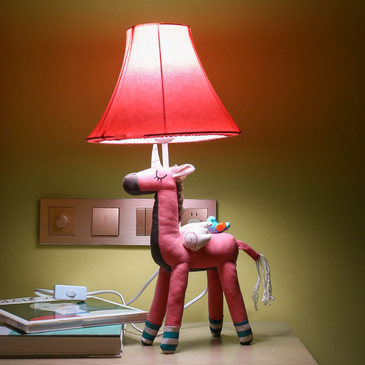 Pink Unicorn Table Lamp | Cotton Lamp for Children 1