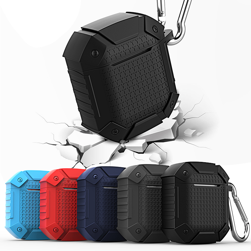 Shockproof Armor Earphone Case For Apple AirPods Protective Skin Soft Silicon Earphone Bag Charging Box Accessories For Airpods