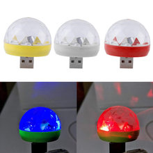 USB Adapter Phone Charger KTV Xmas Magic Phone Ball Lamp USB Mini LED RGB Disco Stage Club DJ(China)