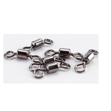 Conector sólido de anzol, 10 50 peças, rolamento de esferas de pesca, pressão de rolamento, acessórios de gancho de aço inoxidável
