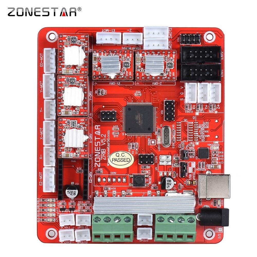 ZONESTAR 3D Drucker Controller Control Board Motherboard ZRIB Kompatibel Mit Rampen V1.3 V1.4 ATMEGA2560 Unterstützung Drei Extruder