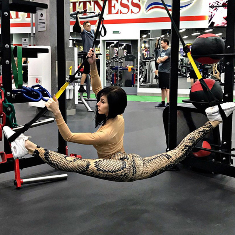 Sexy Snake Print Yoga Pants Women Gym Clothes Fitness Workout Sports Pants Elastic Tights Jogger Running Trousers Slim Leggings in Yoga Pants from Sports Entertainment