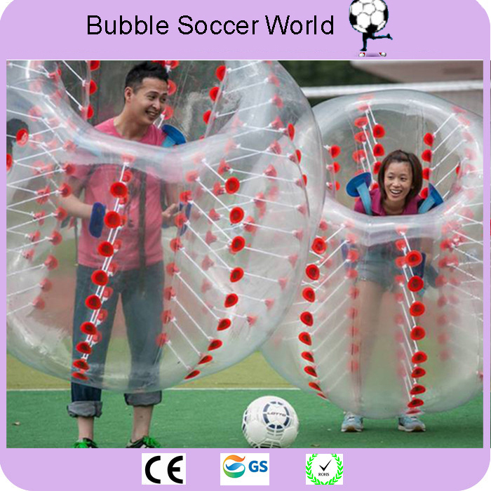 2018 New Air Bubble Soccer 0.8mm PVC 1.2M 1.5M 1.7m Air Bumper Ball Adult Inflatable Bubble Football,Zorb Ball custom made Logo image