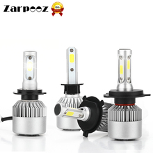 C6 Led Car Headlight Zarpooz Auto Lamps 12V Bulb H7 LED H4 HB2 H1 H3 H11 HB3 9005 HB4 9006 9004 9007 72W 8000lm Light