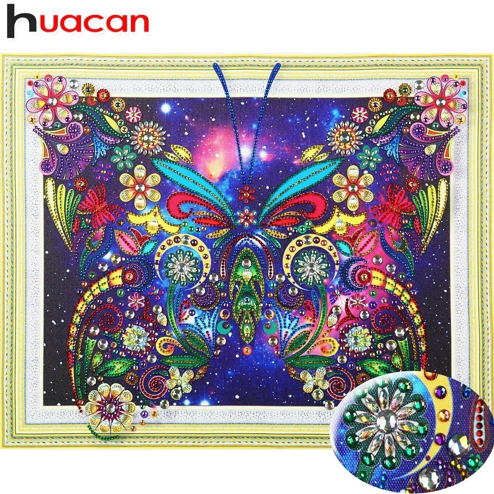 Huacan 5D DIY Diamond Painting Butterfly Decoration Home Picture Of Rhinestones Special Shaped Diamond Embroidery Animals40x50cmHuacan 5D DIY Diamond Painting Butterfly Decoration Home Picture Of Rhinestones Special Shaped Diamond Embroidery Animals40x50cm