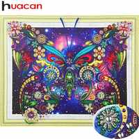 Huacan 5D DIY Diamond Painting Butterfly Decoration Home Picture Of Rhinestones Special Shaped Diamond Embroidery Animals40x50cm