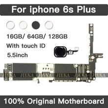 For iPhone 6SP 6s Plus Motherboard 16GB-64GB-128GB Original 100% Unlock Mainboard With Chips IOS Logic Board For Repair Replace
