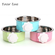 Suspension Stainless Steel Dog Bowls Puppy Travel Portable Pet Cat For Feeder Universal Small Medium Dogs Pets Product
