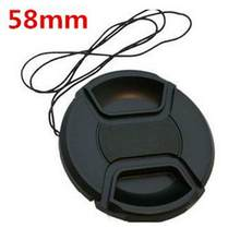For Ni kon For Ca non 58mm SLR Camera Lens Cover Black Plastic Universal Camera Lens Cap With Anti-lost Rope #5(China)