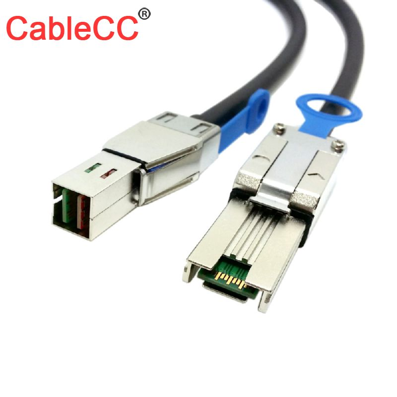Cablecc External Mini SAS 4X SFF-8088 to Mini SAS HD SFF-8644 data Cable