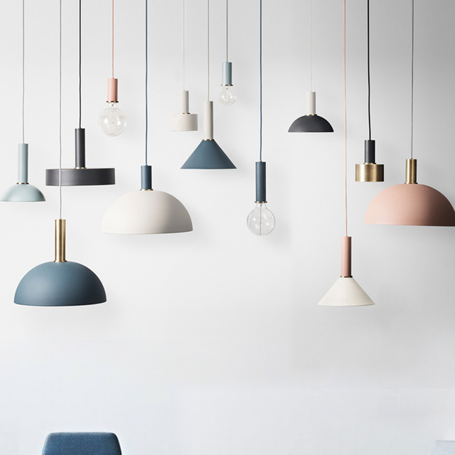 DIY Colorful Nordic Pendant lights Bedside dining room small Hanging decorative lamp Creative Modern personality art lighting