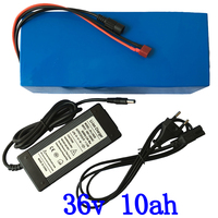 36V Electric Bike battery 36V 10AH Lithium Battery 36V Ebike battery with 15A BMS 42V 2A charger Free Shipping Free Customs Tax