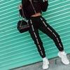 HOUZHOU Harem Pants Trousers Women Full Length Loose Jogger Mujer Sporting Elastic Waist Black Casual Combat Streetwear Fashion 2