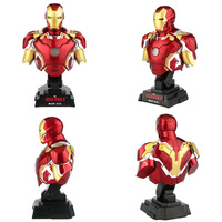 marvel The Avengers Iron Man MK43 MK7 Mark 7 1/4 bust statue sculpture model Decorative ornaments