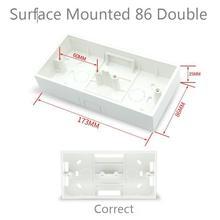 2PCS Ming Box 86 Type Double Bottom Box Switch Socket Panel Wiring Downline Combination Loading Box
