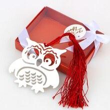 10 шт./лот книга с совой маркеры птицы с кисточками металлические закладки Канцтовары для детей подарки на день рождения свадебные сувениры