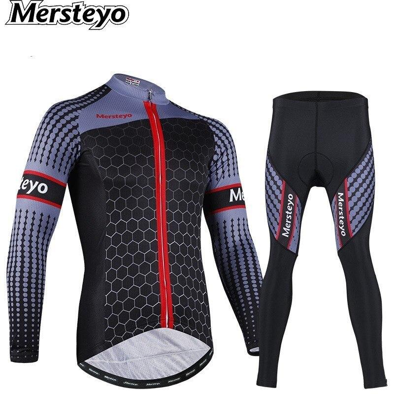 Hommes cyclisme vêtements Jersey vêtements à manches longues ensemble costume vélo extérieur route vitesse course voyage Montain vélo vtt sport Maillot