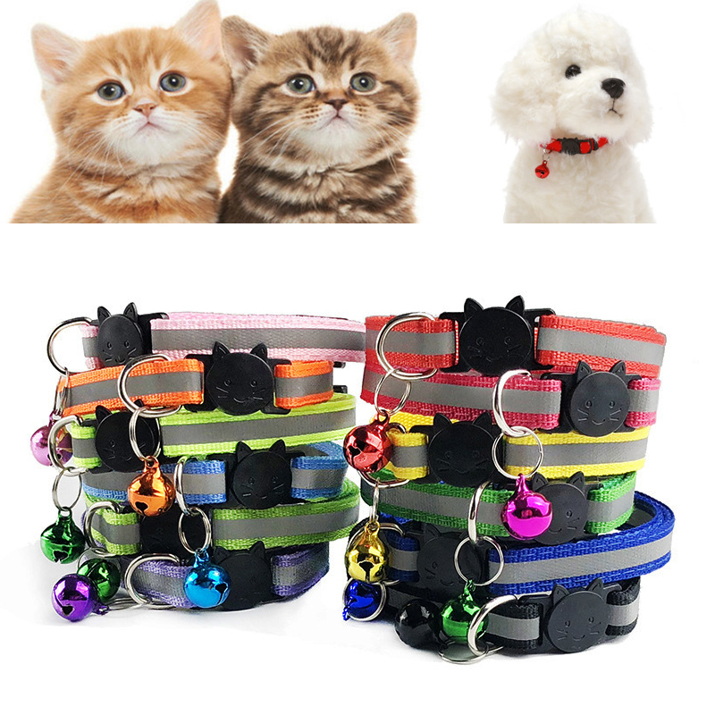 Adjustable 1.0 Nylon Dog Collars Pet Collars With Bells Charm Necklace Collar For Little Dogs Cat Collars Pet Supplies Hot Sale #2