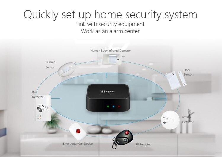Sonoff Wireless Anti-Theft Door And Window Entry Alarm Burglar Intruder Sensor Security Alarm Warning 433MHz For Home Shop