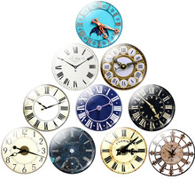 Round Vintage Clock Pocket Watch Pattern Glass Cabochon For DIY Jewelry Making Findings 25MM Demo Flat Back Making Findings