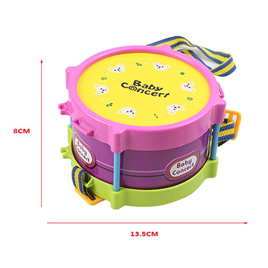 5Pcs Educational Baby Kids Roll Drum Musical Instruments Musical Instruments Toy Children Toy Baby Kids Gift Set