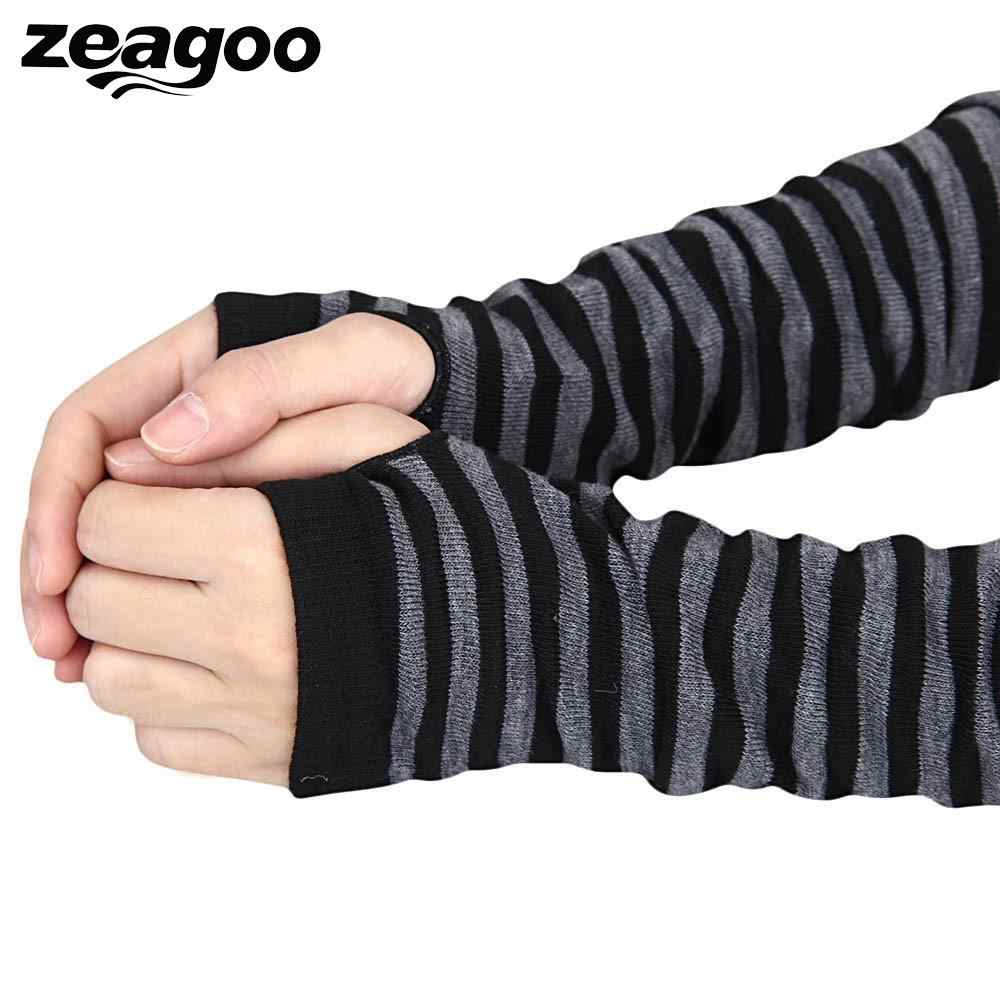 Moodeosa 2018 New Arrival Fashion Winter Golves Women Warm Mittens Women Fingerless Knitted Long Gloves Retail Wholesale Drop