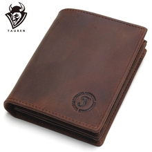 купить Rfid Blocking Short Wallets Crazy Horse Leather Wallet Men Genuine Leather Purse Card Vintage Male For Men Small Money Bag по цене 769.2 рублей